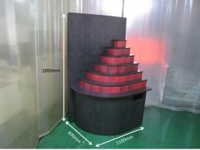 組立式ステップ展示什器(ダンボール製)