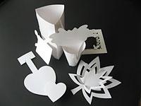 加工例:変形・特殊形状の箱やPOP